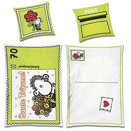 Bettwäsche Sheepworld Postkarte Bunte Träume Inkl Textilstift Zum Beschriften Bezug 135x200cm Kissen 80x80cm Renforcé 100 Baumwolle Mit