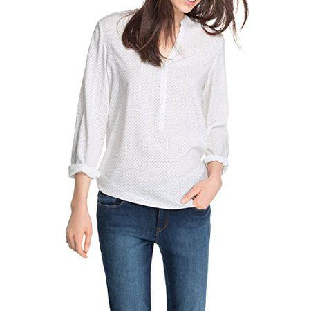 ESPRIT Damen Regular Fit Bluse 047EE1F007, Gr. 40, Blau
