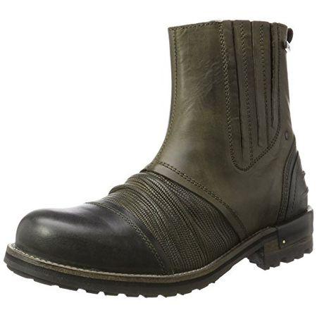Yellow Cab Herren Tear M Chelsea Boots, Grün (Green), 45 EU