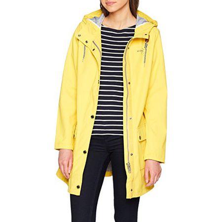TOM TAILOR Damen Jacke Bonded Summer Raincoat, Gelb (Milky Sunflower Yellow  3512), b8d1b8096f