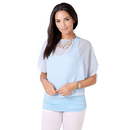KRISP Damen Bluse 3559, Blau (Aqua 3559 23), 40 (Herstellergröße  5152002d92
