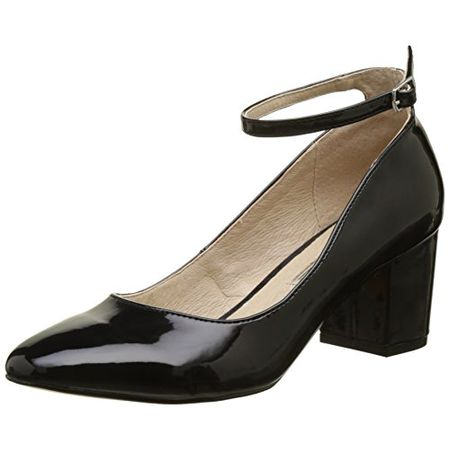 Buffalo Shoes Damen 15P54 1 PU Patent Pumps, Schwarz (Black 01), 41 EU
