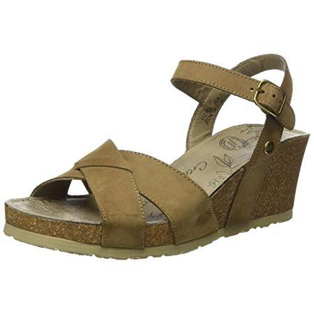 2b70358f999b47 PANAMA JACK Damen Vika Basics Offene Sandalen mit Keilabsatz