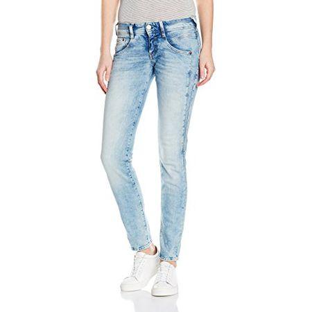 Herrlicher Damen Jeans (Schmales Bein) Gila Slim, Blau (Crystal 021), W28L32 (Manufacturer Size:28)