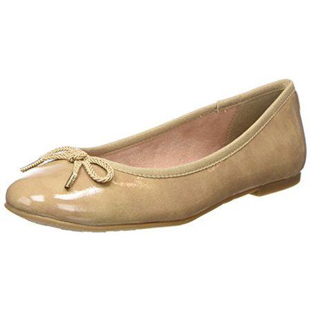 Tamaris Damen 22123 Ballerinas, Beige (Nude Patent), 39 EU