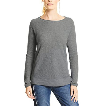 CECIL Damen Pullover 300426, Mehrfarbig (Deep Blue 20128), XX Large