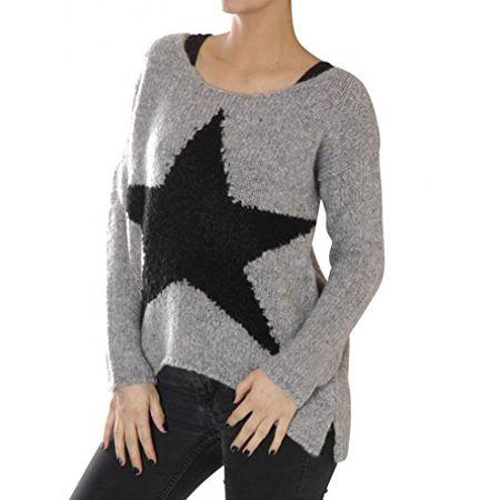 edc0919fdb61 KEY Largo Damen Pullover Dance Grey Melange (L)