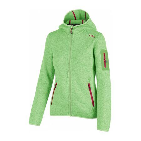 CMP - Fix Hood Damen Strickfleecejacke (grün) - XS (34) 833b12f414
