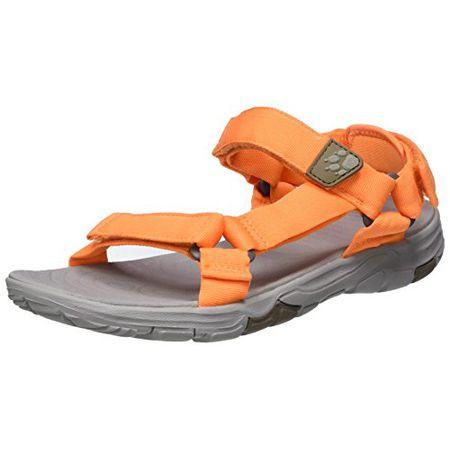 Jack Wolfskin Seven Seas 2 Sandal W, Damen Sport & Outdoor Sandalen, Orange (Papaya), 37 EU (4 UK)