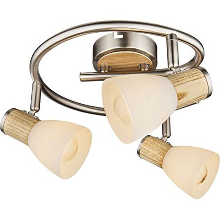 LED Deckenleuchte Gästezimmerlampe beweglich Spotstrahler Chrom 3-flammig EEK A+