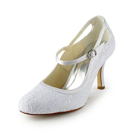 834b744cea1ddd Jia Jia Wedding 3113 Hochzeitsschuhe Brautschuhe Damen Pumps weiß