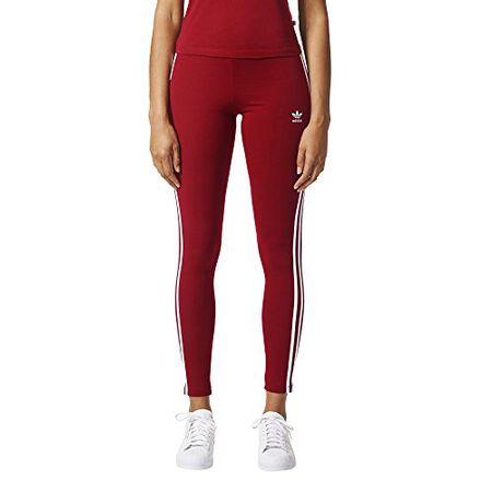 Adidas Originals Damen Leggings mit 3 Streifen Gr. X Large, Collegiate Burgundy