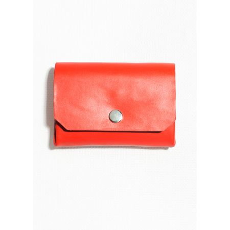 58855ca732d53 Leather Mini Wallet - Red