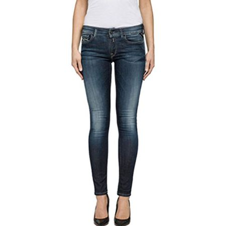ac4194b2157c Replay Damen Jeans Luz - Skinny Fit - Blau - Blue Denim, Größe:W 29 L  30;Farbe:Blue Denim (009)