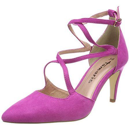 Tamaris Damen 24400 Riemchensandalen, Pink (Pink), 41 EU