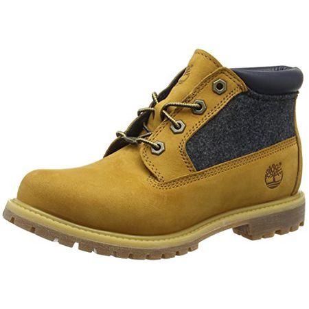 release date: a11b9 a81b5 Timberland Nellie_Nellie Chukka Double F/L, Damen Chukka Boots, Braun  (Wheat Nubuck with Blue Felt), 41 EU (7.5 Damen UK)