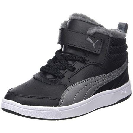 Puma Unisex Kinder Rebound Street v2 Fur V PS Sneaker, Schwarz (Black Smoked Pearl), 33 EU