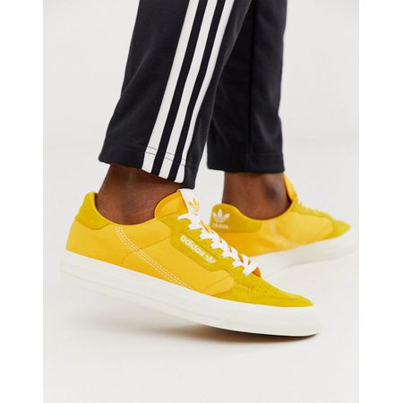 adidas Originals Continental Vulc Sneaker in Gold mit Wildlederbesatz Gold
