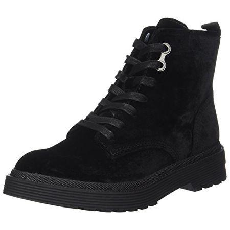 on sale c06a4 e28ff Calvin Klein Damen Annie Velvet Combat Boots, Schwarz (Black), 37 EU