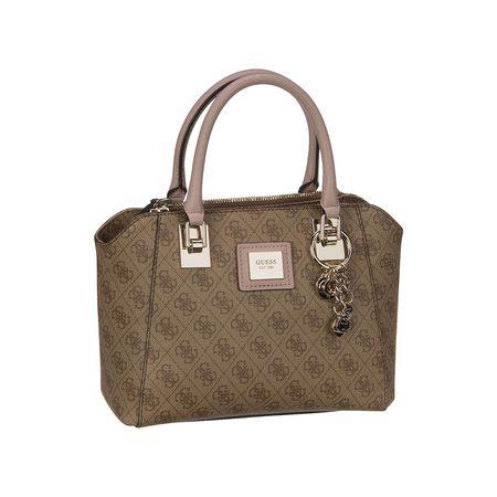 Guess Handtasche Candace Society Satchel Handtaschen braun Damen
