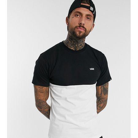 Vans – Full Patch – T Shirt mit Rückenprint in WeißPurpur