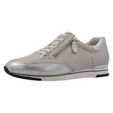 GABOR Damen Sneaker Silber Schuhe in Übergrößen, Größe:42.5