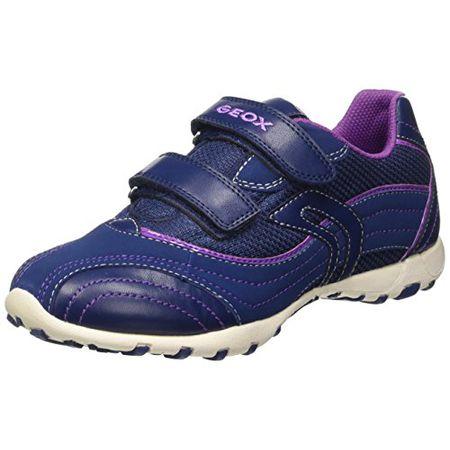 Geox Mädchen J Shuttle Girl A Sneaker, Blau (Navy), 26 EU