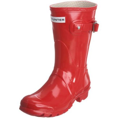 huge selection of f05af 6674f Hunters Original Short Gloss W23700, Damen Stiefel, Rot (Pillar Box Red),  EU 42 (US 8)