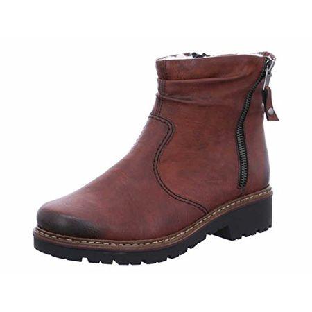 Rieker Damenschuhe Z4541 Damen Stiefel, Schlupfstiefel, Boots rot (vinaccia 35), EU 38