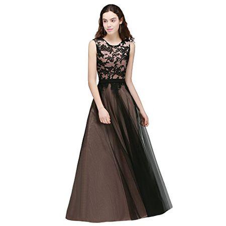 bbc0753cc1c28d Damen Ballkleid Lang Spitzenkleider Hochzeit Elegant Brautjungfer  Abendkleider Rosa Gr.34
