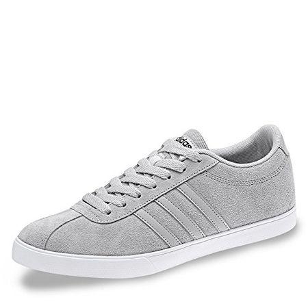 Adidas BB9658 Courtset W Damen Sneaker Aus Veloursleder mit Flexibler Laufsohle, Groesse 4,5, Hellgrau