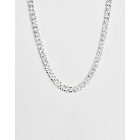 Design Asos Breite Kette Silber In 0nOwP8k