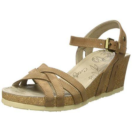 bb1830981f9880 PANAMA JACK Damen Vera Basics Offene Sandalen mit Keilabsatz