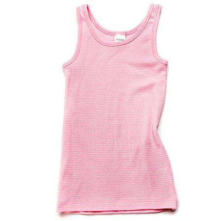 eb29d09b86 HERMKO 26000 Mädchen Achselhemd made in EU, Größe:128, Farbe:Rosa Ringel