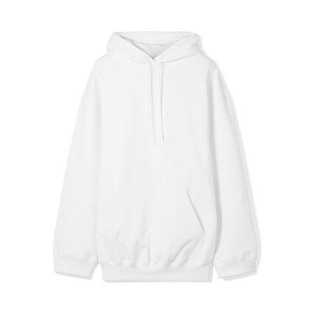 Balenciaga Oversized hoodie Aus Bedrucktem Baumwoll jersey Weiß