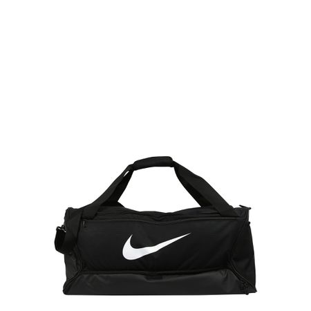 NIKE Sporttasche 'BRSLA M DUFF 9.0' schwarz weiß