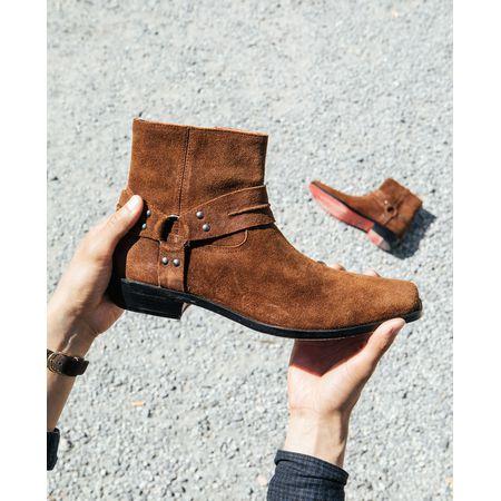Tigha Herren Chelsea Boots Albie Schwarz (cow Suede Schuhe
