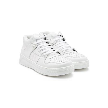 015c9c0f4ce33f Balmain Bedruckte Sneakers aus Leder