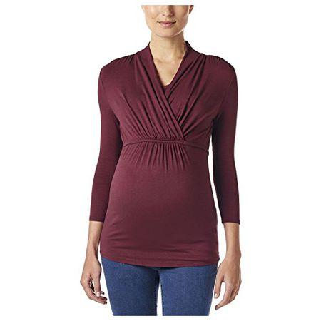 Esprit Maternity Damen T-Shirt Ls Umstandslangarmshirt