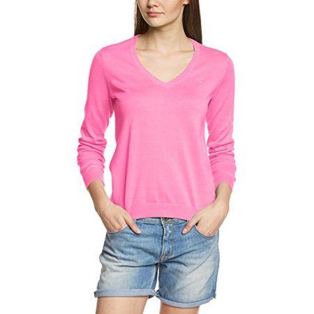 d0673cc9b63e GANT Damen Pullover LT WT COTTON V-NECK 483022, Rosa (Lipstick Pink)