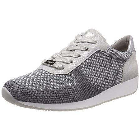 ara Damen Lissabon Sneaker, Grau (Grau-Hellgrau, Silber 10), 39 f4685ec2a7