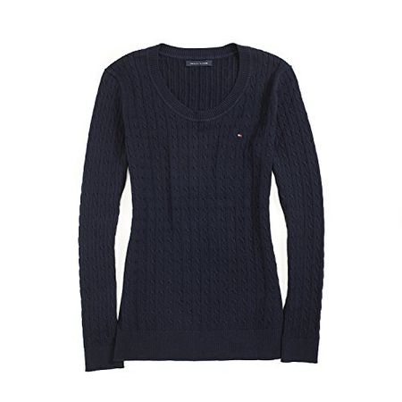 6a0274db71ecaf Tommy Hilfiger Damen Pullover, Women's Cable Knit Sweater, Large
