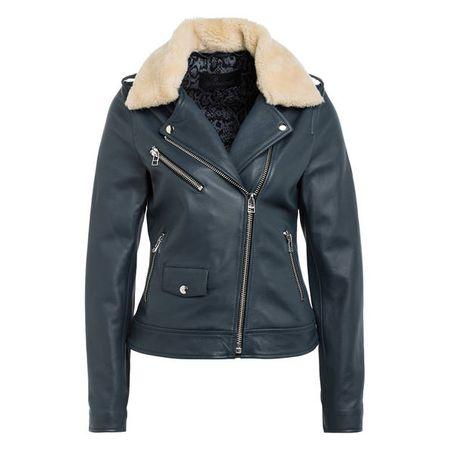 Goosecraft Lederjacke Damen, Model Leder Jacket 192, XS bis XXL, 100% Echtes Leder Jacke (Schwarz) Small