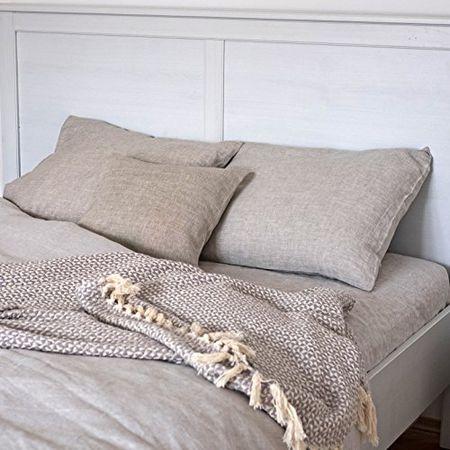Super Leinen Bettwäsche Set Welna 2 Bettbezüge 140x200 Cm 2 Kissenbezüge 40x80 Cm Natur Beige Varvara Home 1594 1470