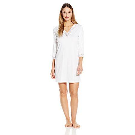 8968efa601 Hanro Damen Nachthemd 3/4 Arm 90 cm Moments NW (0101 white),
