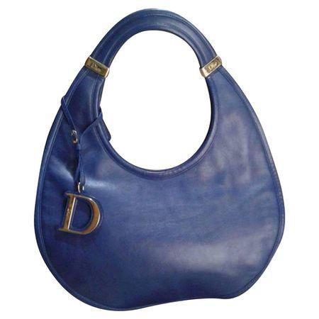 eaad9b985ec68 Christian Dior Handtasche aus Leder in Blau