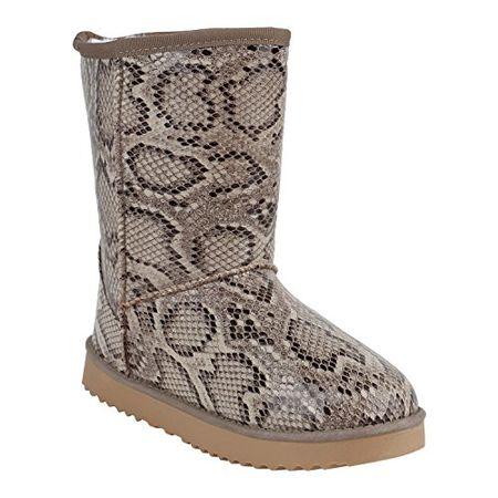 3c92b18e3310e7 Stiefelparadies Schlupfstiefel Damen Schuhe Lack Stiefeletten Stiefel Warm  Gefüttert 152195 Snake Lack 38 Flandell