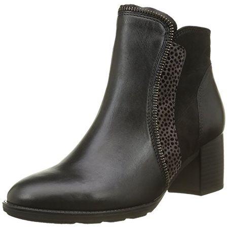 Gabor Shoes 55.680 Damen Kurzschaft Stiefel, Mehrfarbig (SchwarzZinn(Micro 27), 40.5 EU (7 Damen UK)