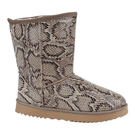 3459782e4a Schlupfstiefel Damen Schuhe Lack Stiefeletten Stiefel Warm Gefüttert 152184  Snake Lack 40 Flandell