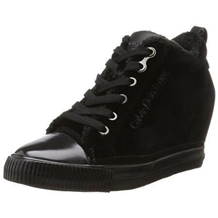 buy online 5169d 22eb4 Calvin Klein Damen Robina Velvet Sneaker, Schwarz (Black), 40 EU